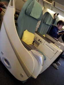 Prestige Sleeper (Business Class) Seats on Korean Air A380