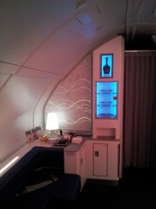 Self-service bar lounge on Korean Air A380