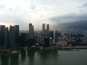 View of Singapore whilst working out