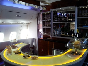 Emirates A380 Onboard Lounge