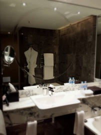 Marble bathroom at Grand Hyatt Melbourne