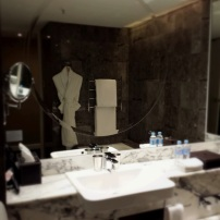 Marble bathroom at Grand Hyatt Melbourne
