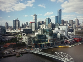 View from Hilton Melbourne South Wharf