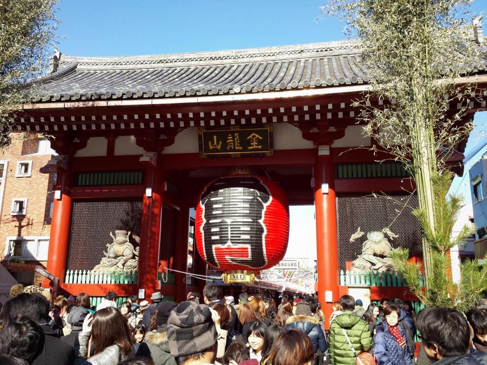 Kaminarimon 雷門, outer gate of Sensō-ji Temple 金龍山浅草寺