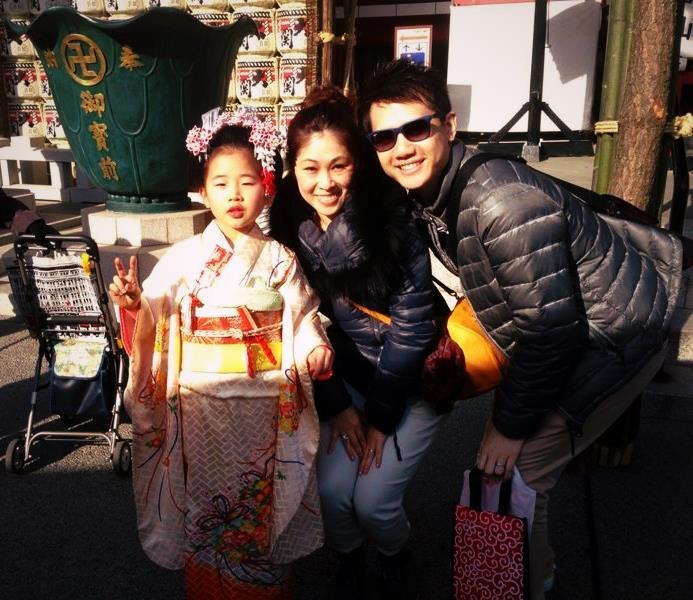 Little girl in traditional kimono