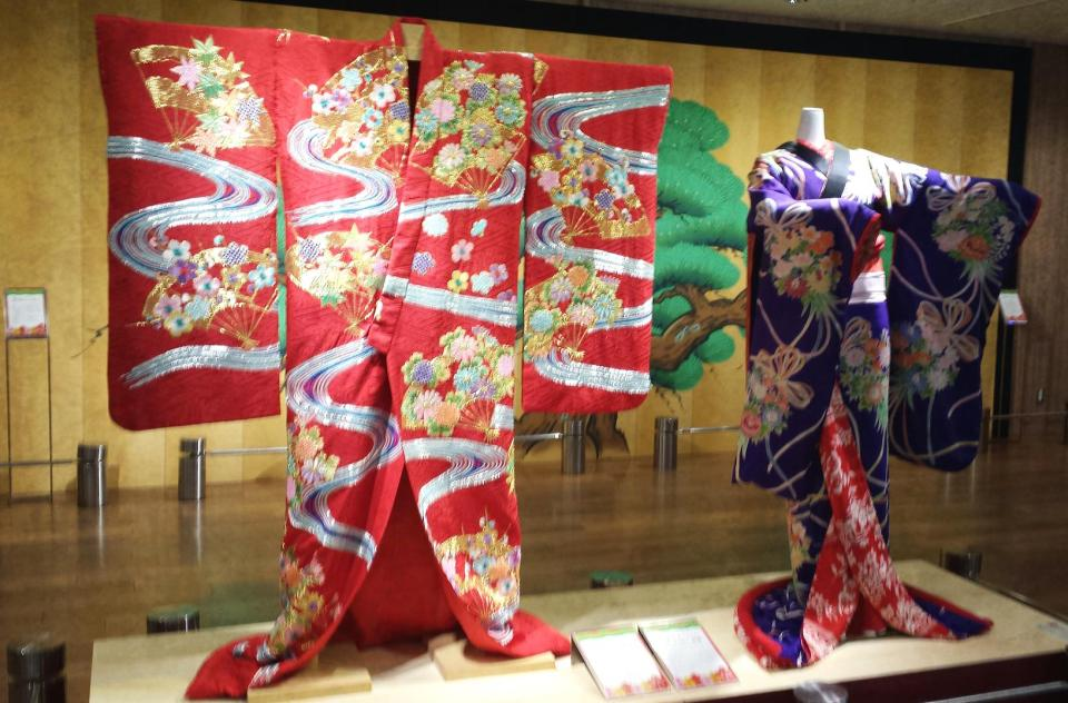 Kimonos on display