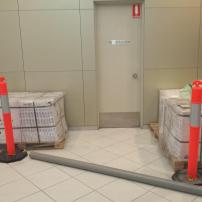 New tiles arrive at Harmony Apartments