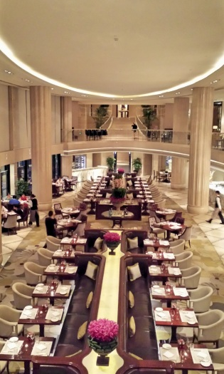 Grand Brasserie linking the Waldorf Astoria Club and Tower
