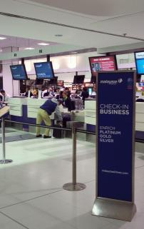 MAS Business Class check-in at Sydney Kingsford Smith International