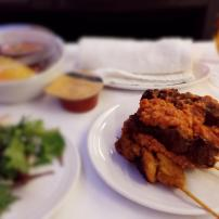 Malaysia Airline's famous satay
