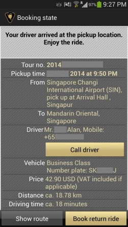 Blacklane arrival mobile notification
