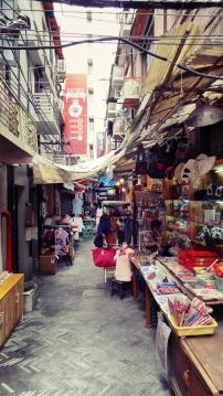 Hundreds of tiny shops, cafe, studios, galleries and bars make up Tian Zi Fang