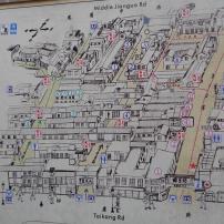 Map of Tian Zi Fang, useful for navigating the narrow laneways