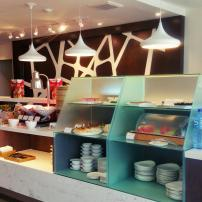 Malaysia Airline Golden Lounge Domestic Buffet station with made-to-order options
