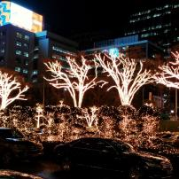 Outside Lotte Hotel Seoul