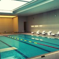 Indoor swimming pool at Lotte Hotel Seoul