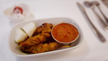Malaysia Airlines famous satay