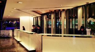 Hotel reception at The Mira Hong Kong