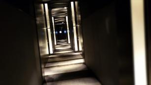 """Dark """"trendy"""" hallways at The Mira Hong Kong"""
