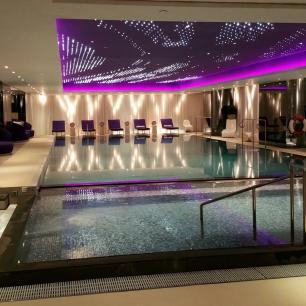 indoor infinity pool at The Mira Hong Kong