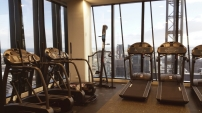 One of the Residents gym on Level 33, 568 Collins Street
