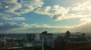 Views of Dockland from Level 33, 568 Collins Street