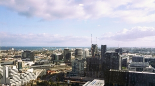 Water views from L33, 568 Collins Street