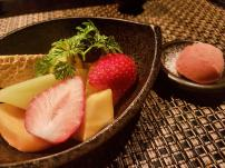 Jyubei Course #10: Dessert delight and fruits of the season
