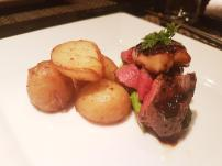 Jyubei Course #8: Deluxe Japanese beef tenderloin steak with foie gras, feudal-lord style