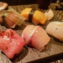 Jyubei Course #9: Sushi of the season with akadashi dark-miso soup